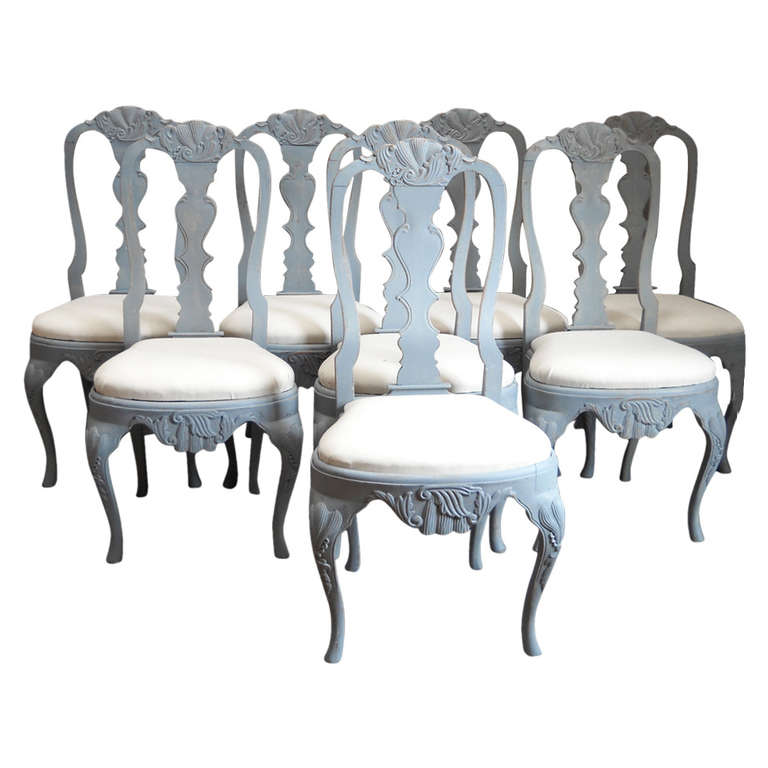 set of eight rococo style dining chairs at 1stdibs