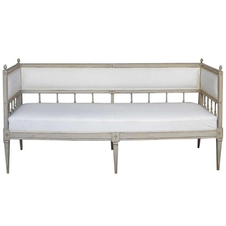 Late Gustavian Sofa Bench At 1stdibs