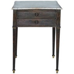 Swedish Work Table in Black Paint