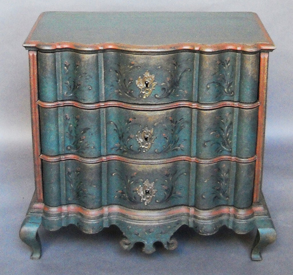 Period Danish Commode with Serpentine Form image 2