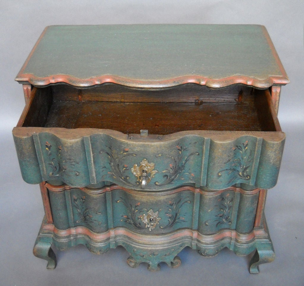Period Danish Commode with Serpentine Form image 3