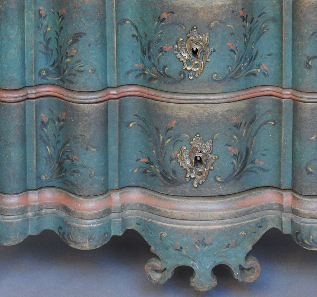 Period Danish Commode with Serpentine Form image 6