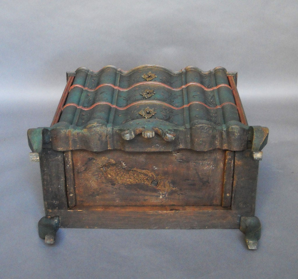 Period Danish Commode with Serpentine Form image 7