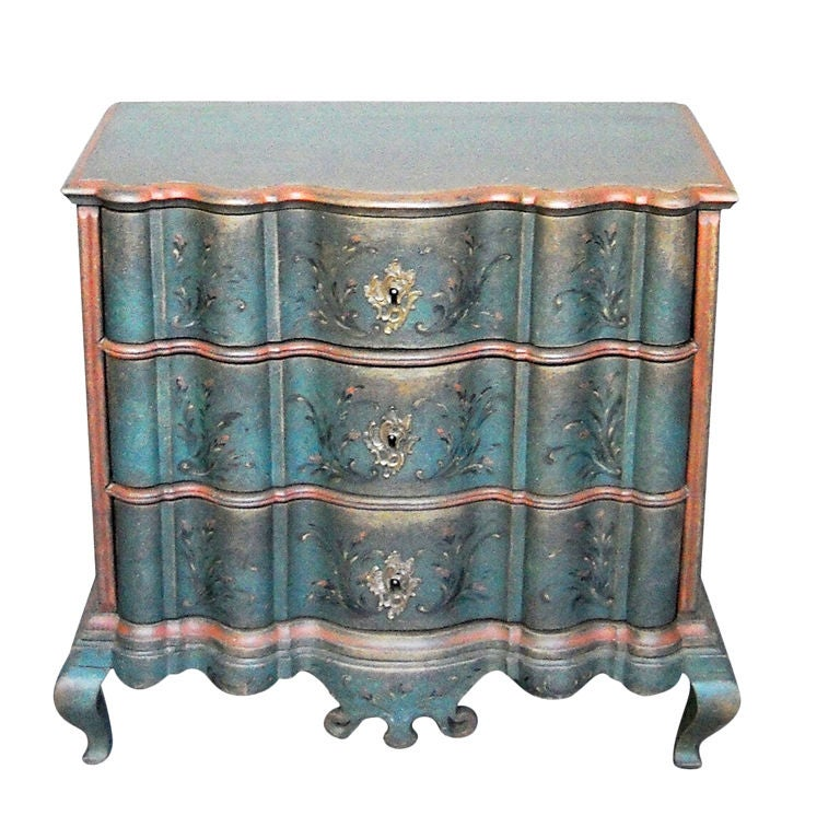 Period Danish Commode with Serpentine Form