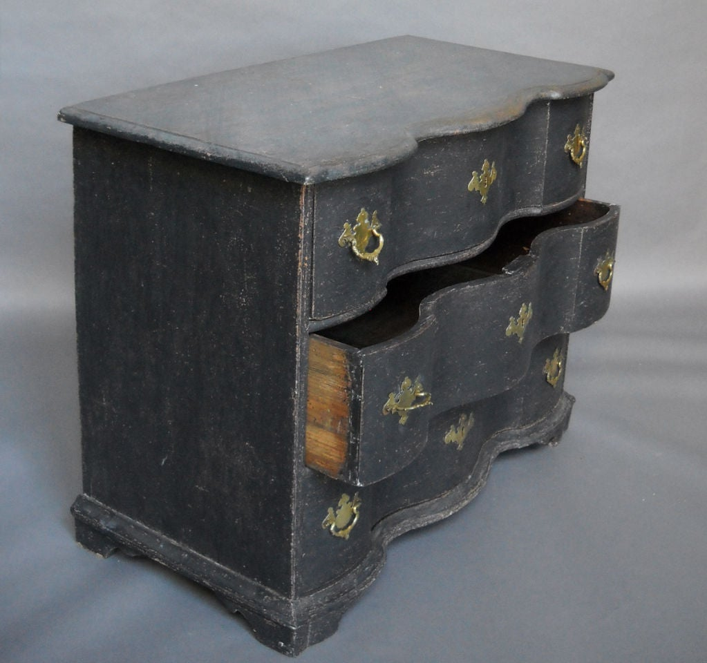 18th Century and Earlier Period Danish Rococo Chest of Drawers