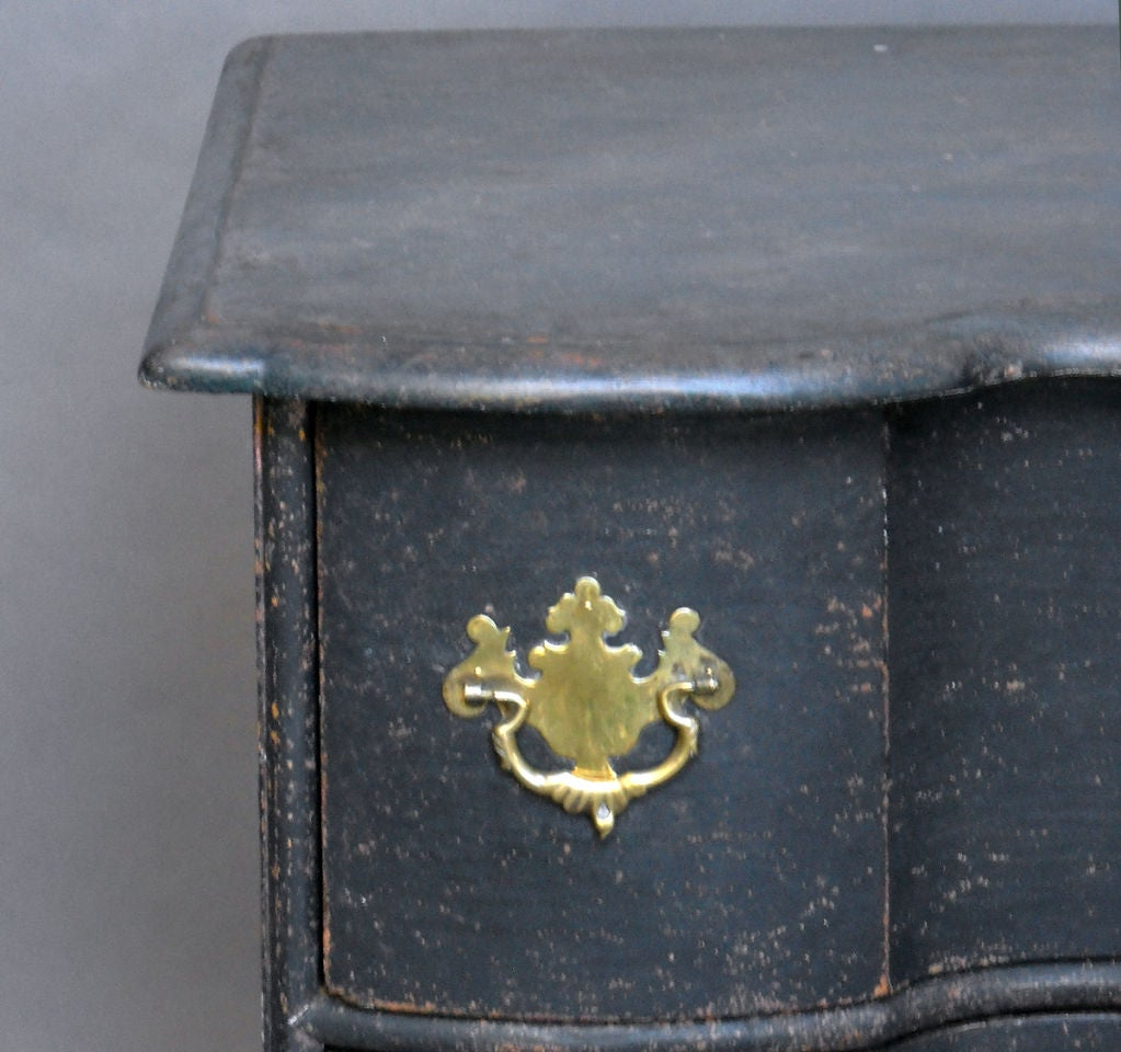 Wood Period Danish Rococo Chest of Drawers