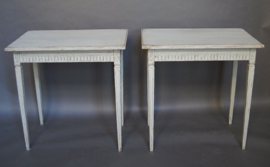 Pair of Period Gustavian Side Tables image 2