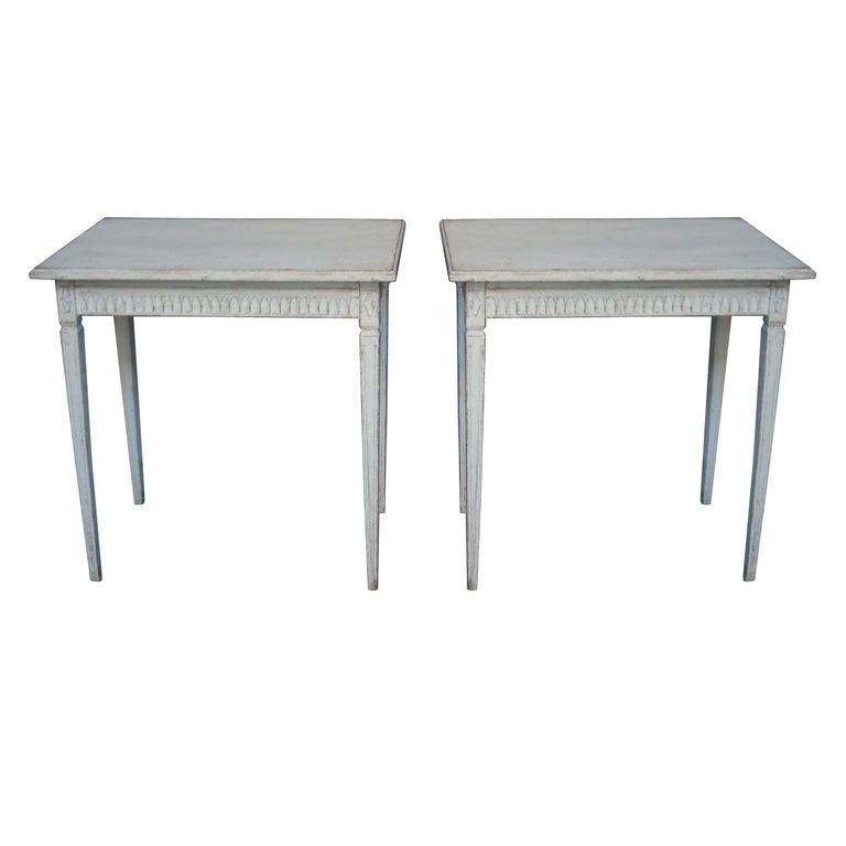 Pair of Period Gustavian Side Tables