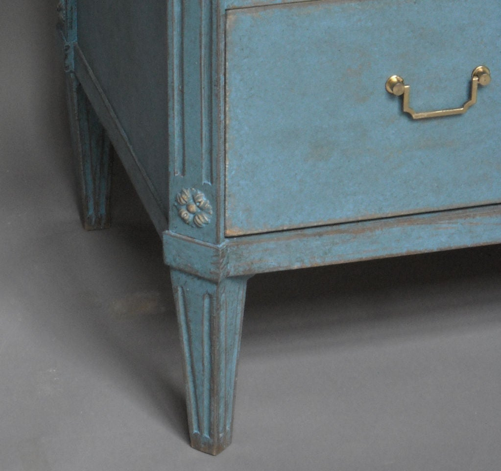 Swedish Commode in Blue Paint 1