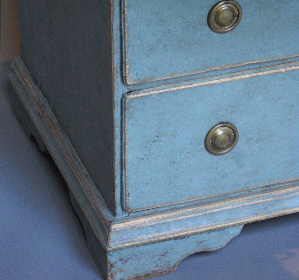Slant Front Writing Desk in Blue Paint 1