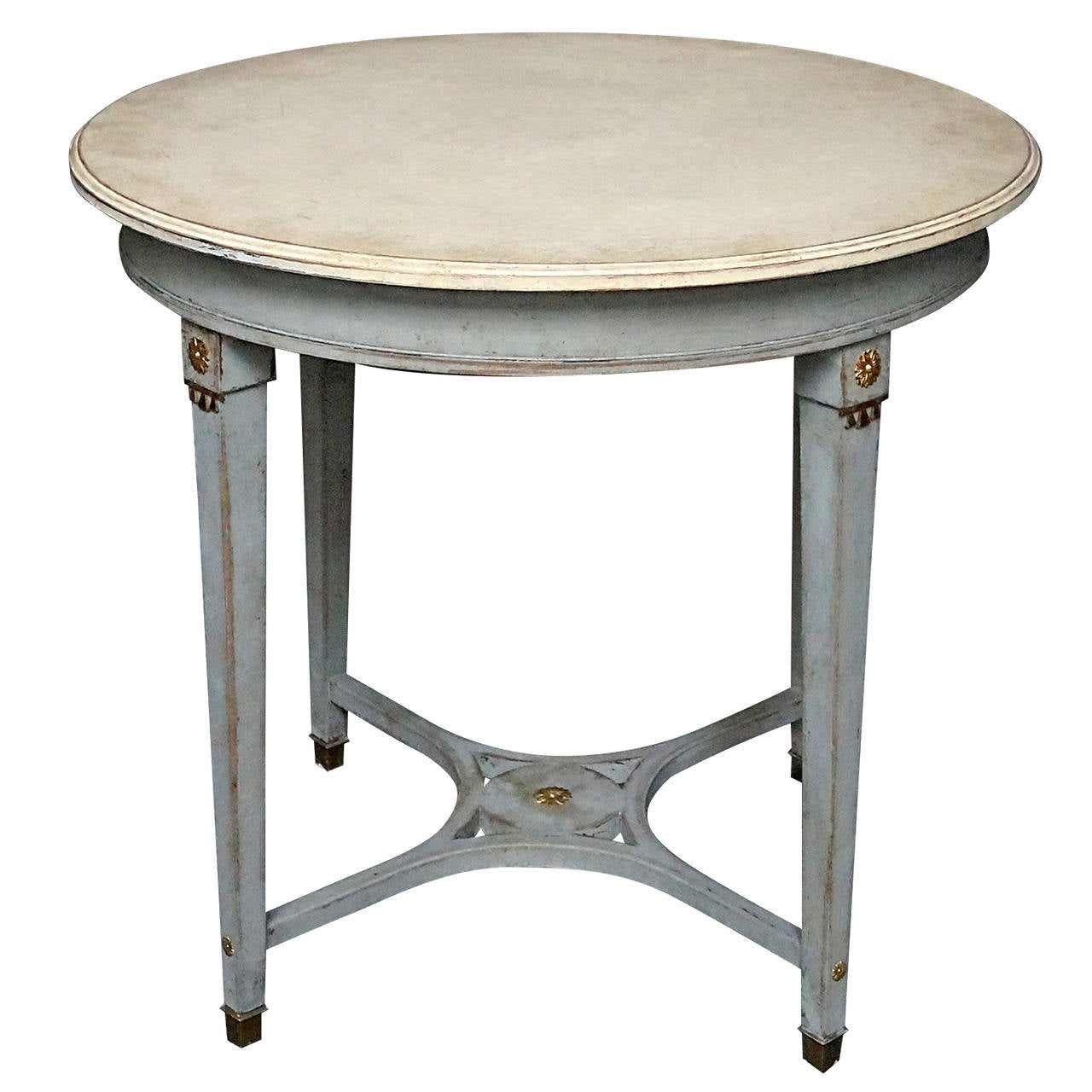 49 Coffee Table Nickel Finish Solid Iron Casters: Bronze Mounted Swedish Table At 1stdibs