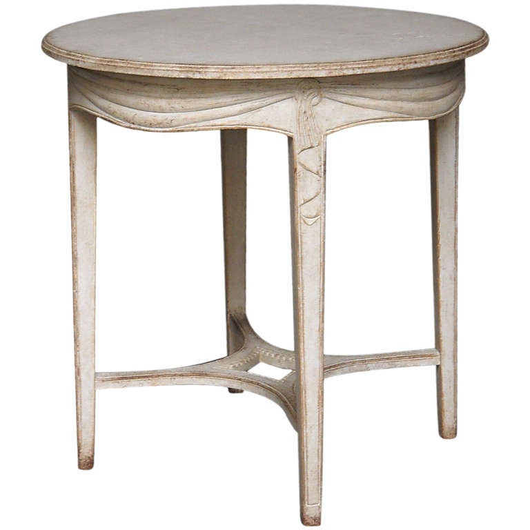 French Connection Gunmetal Coffee Table: Gustavian Style Side Table At 1stdibs
