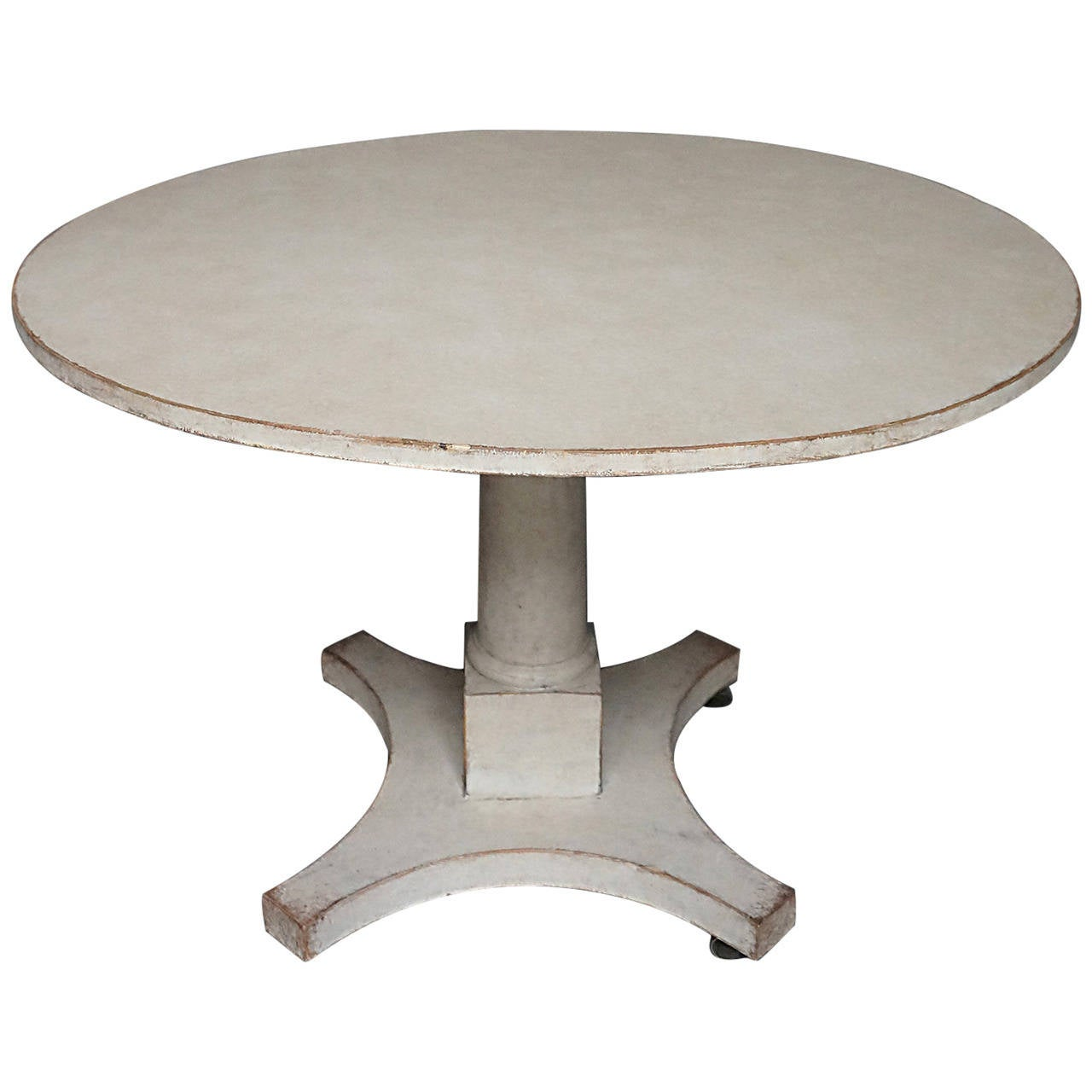Pedestal dining table on saltire base at 1stdibs for Dining room table pedestal bases