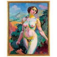 A Cubist Female Nude by George-Henri Tribout circa 1911