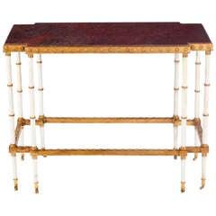 A Fine  Louis XVI Ormolu Mounted Porphyry Center Table att. to M.G.Biennais