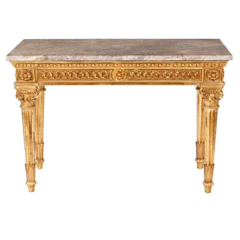 An Important Neoclassical Giltwood Console Florence, Italy