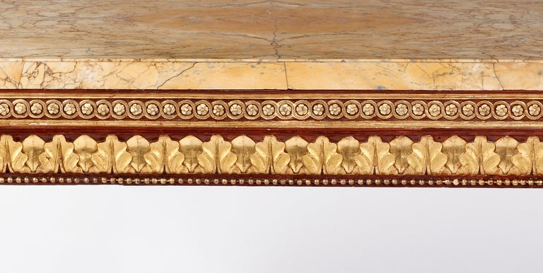 18th Century and Earlier An Important Neoclassical Lacquered & Parcel Gilt Console For Sale