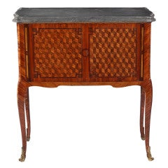 A Louis XV Ormolu mounted Tulipwood, Kingwood & Parquetry Collectors Cabinet