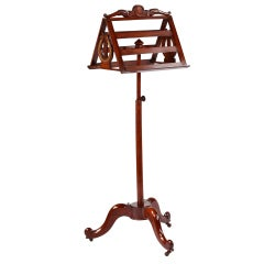 A Fine French Empire Mahogany Music Stand