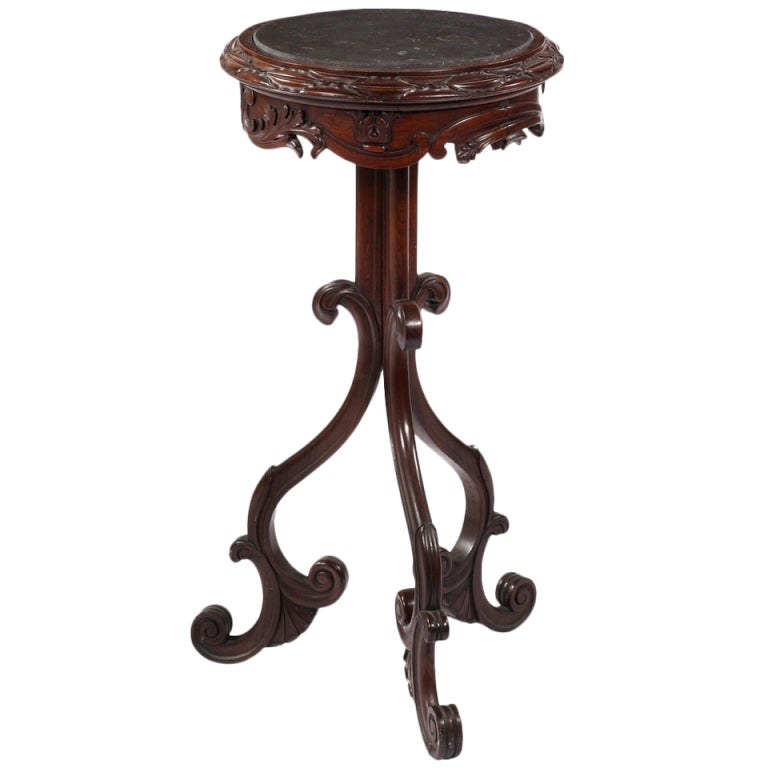 An american carved walnut stand for sale at 1stdibs for What does mcm the designer stand for