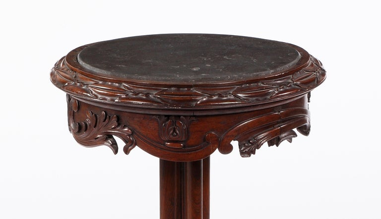 An American Carved Walnut Stand In Excellent Condition For Sale In Sheffield, MA