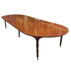 A Fine & Rare Louis XVI Mahogany Dining Table by Claude Messier, 18th Century