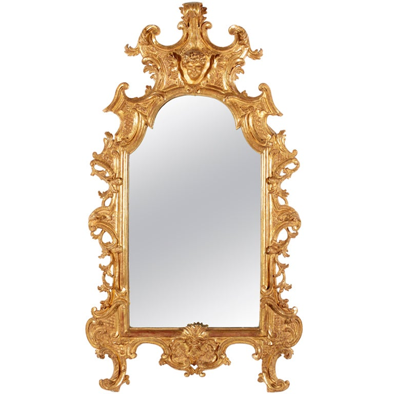 A Fine RococoI Giltwood Mirror, Italy
