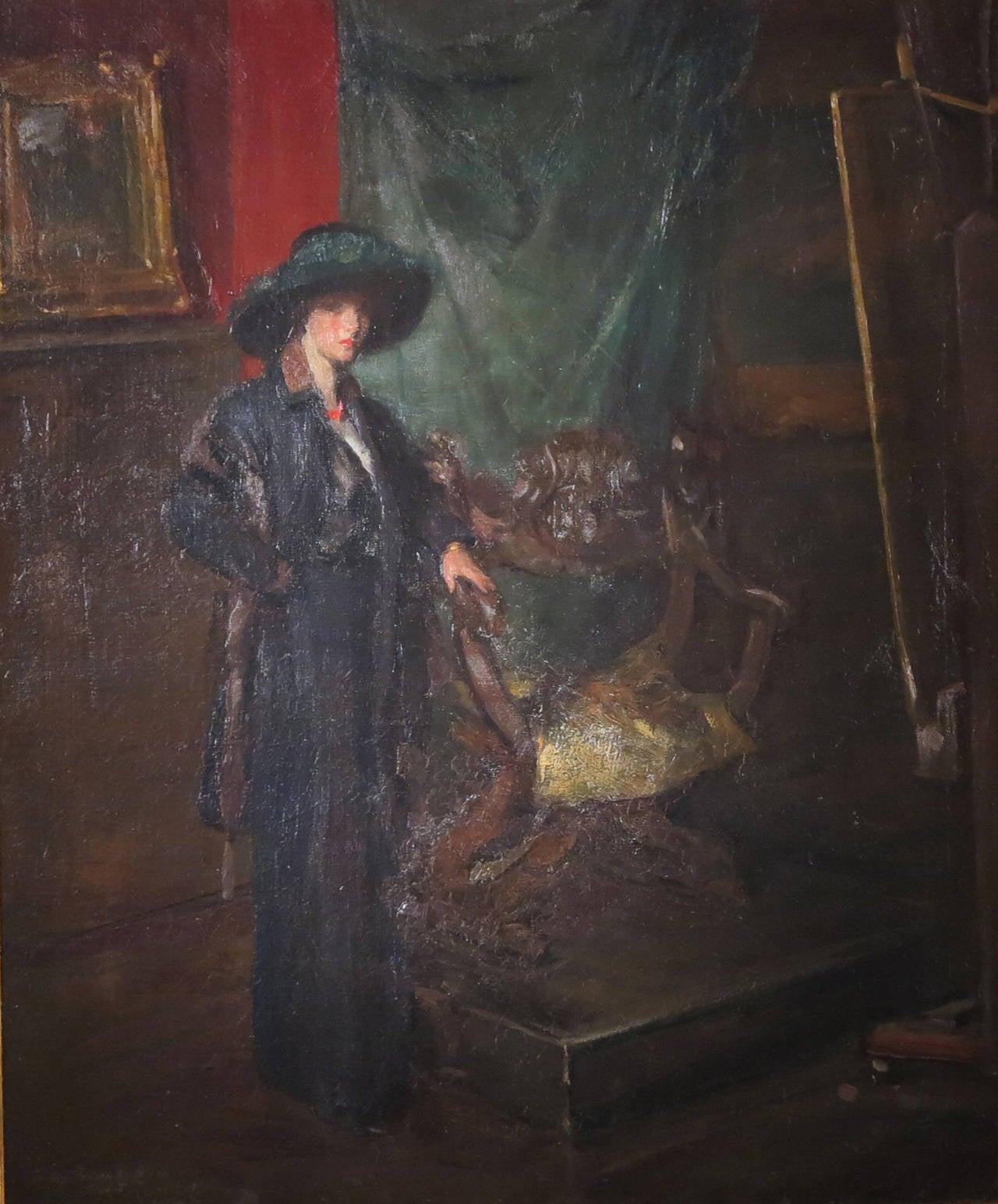 American Artist Studio Painting by Albert Rosenthal For Sale