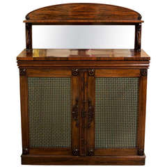 A Fine Late Regency Rosewood Cabinet, 19th Century
