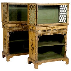 A Pair of Regency Japanned Display Cabinets Provenance: Doris Duke Collection