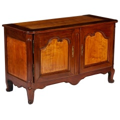 A Louis XV Mahogany Buffet with Bois Citronnier Panels