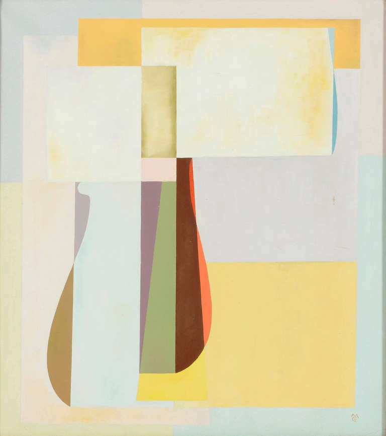 Michael Gloeckner American, 1915-1989 Of Form and Sunlight  Oil on canvas Dated 1971 20 by 18 in.  W/frame 25 by 23 in.  Michael lived in NYC, he also had a home and studio in West Cornwall, CT.  He painted under Otto Dix and was greatly