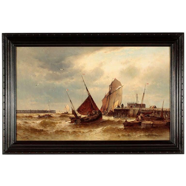 """Harbor Scene"" by Theodore Alexander Weber"
