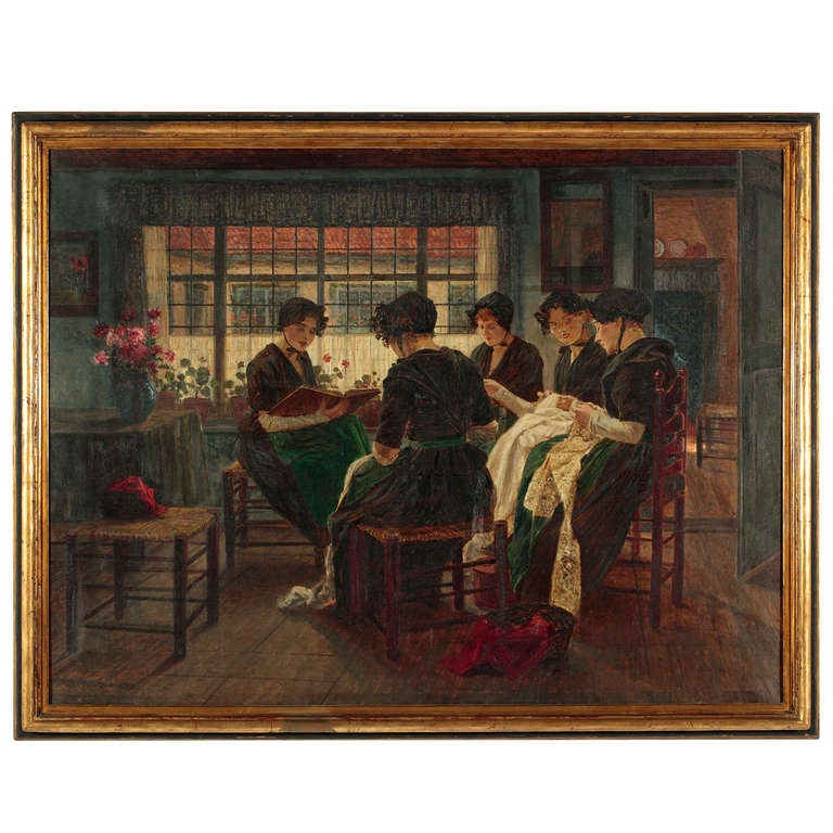 """""""La Lecture"""" by Walter Firle For Sale"""