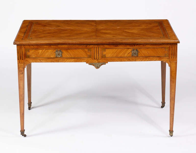 French A Louis XVI Kingwood & Tulipwood Inlaid Writing Desk, 18th Century For Sale