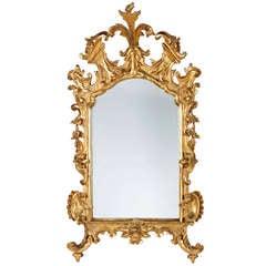 An Italian Venetian Giltwood Mirror, 18th Century