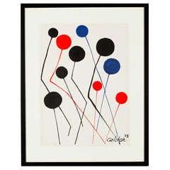 """""""Ballons"""" by Alexander Calder, Color Lithograph"""