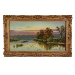 """Fishing at Sunset"" by Edgar Longstaffe"