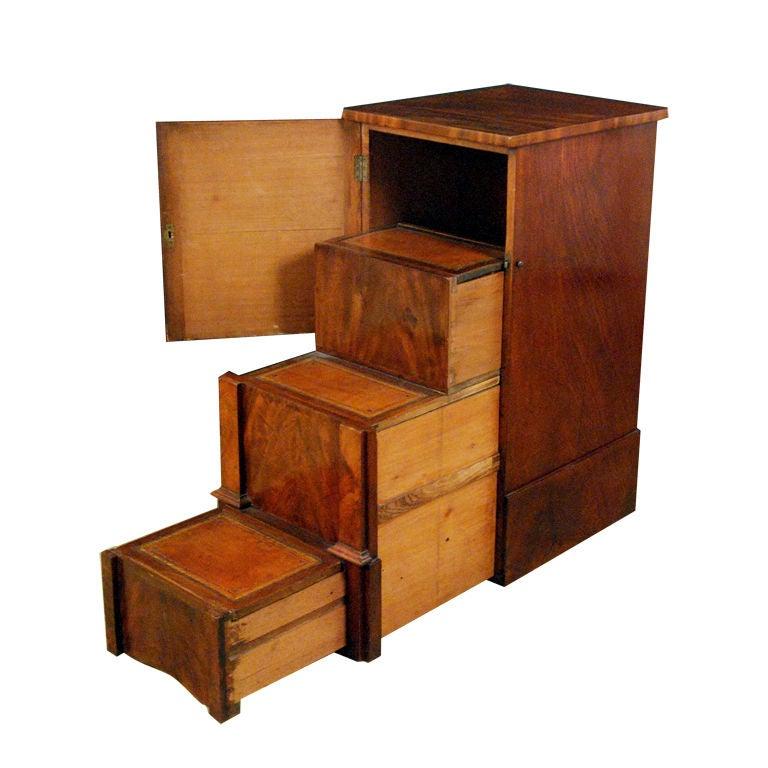 An unusual william iv mahogany pedestal library steps at 1stdibs