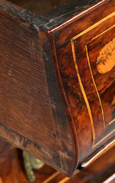 A Fine Dutch Marquetry Inlaid Bombe Desk, 18th Century For Sale 2