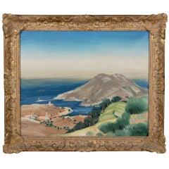 """Port Vendres"" by Henri Verge Sarrat"