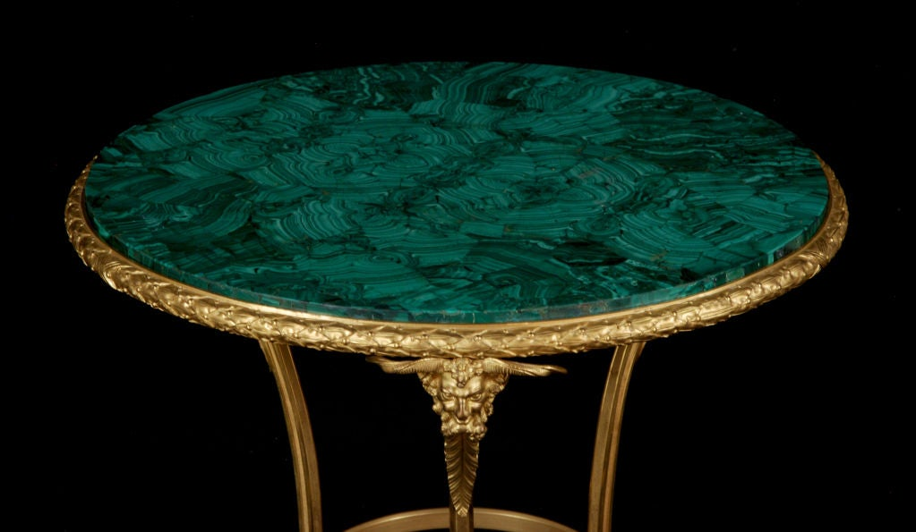 A French Gilt Bronze & Malachite-Top Gueridon by Henry Dasson 2