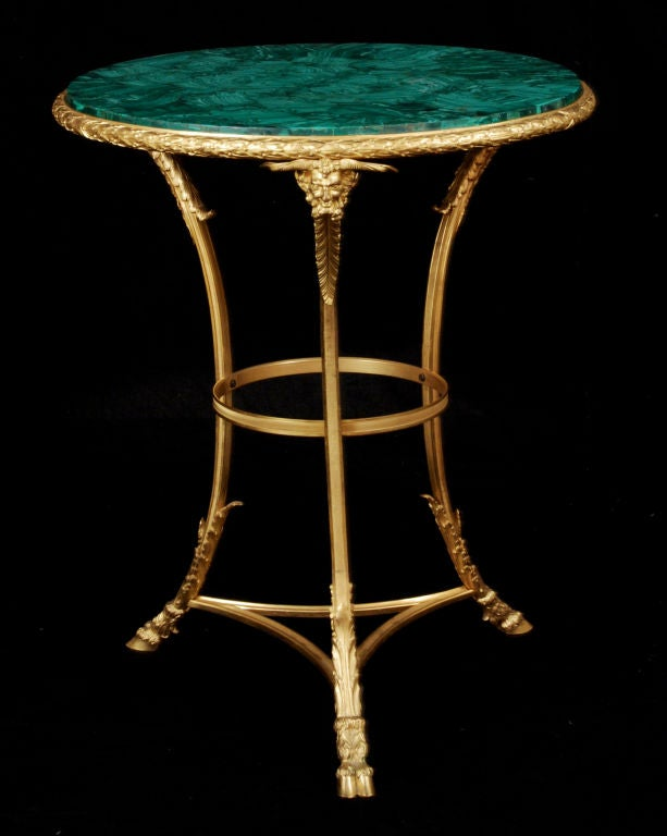 A French Gilt Bronze & Malachite-Top Gueridon by Henry Dasson 7