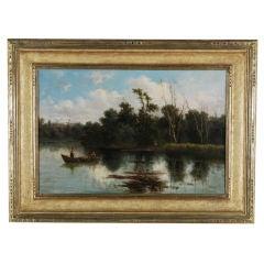 """Figures in a Boat"" by Antonio Julius Rose"
