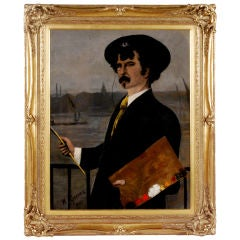 """Portrait of James Abbott McNeill Whistler"" by Walter Greaves"