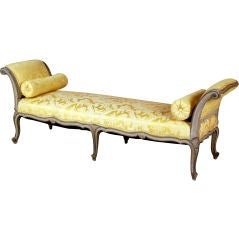 Fine Swedish Louis XV Style Painted Bench, 19th Century