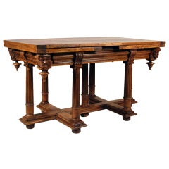 A Fine Henry II Walnut Draw Leaf Table