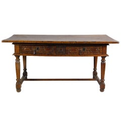 A Rare French Louis XIII Walnut & Chestnut Table, 17th century