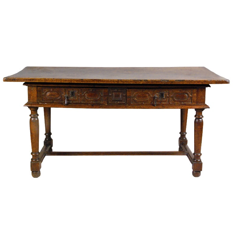 a rare french louis xiii walnut and chestnut table 17th century at 1stdibs. Black Bedroom Furniture Sets. Home Design Ideas