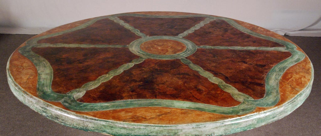 A Polychrome and Parcel Gilt Baroque Center Table 2